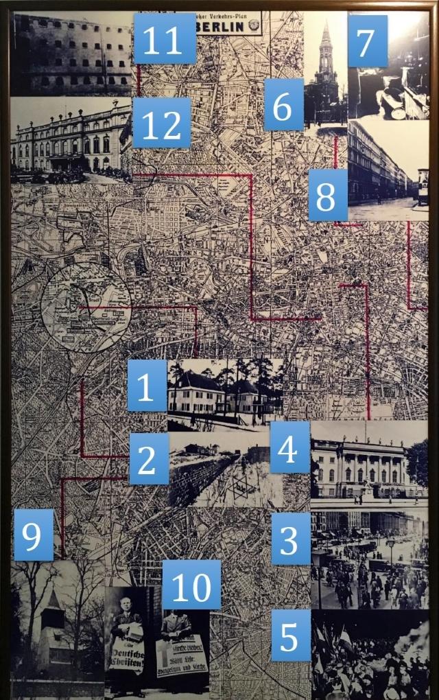 Tafel 1: Dietrich Bonhoeffer und Berlin - Ziffern